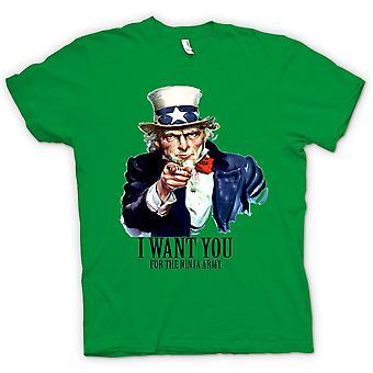 القميص النسائي-أريدك النينجا-مضحك الفكاهة