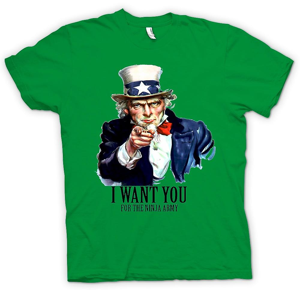 Hommes T-shirt - I Want You Ninja - Humour drôle