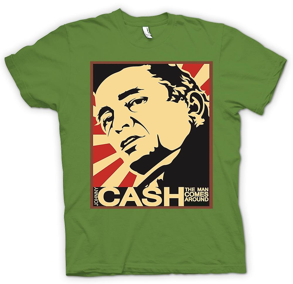 Hommes T-shirt - Johnny Cash - Man Comes Around