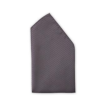Anthracite grey fine striped handkerchief noble business Fabio Farini strips
