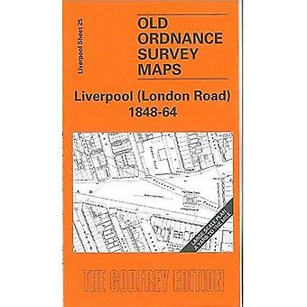 Liverpool (LondonRoad) 1848-64 (Old O.S. Maps of Liverpool) [Folded Map]