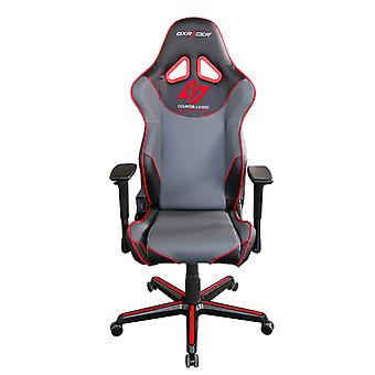 DX Racer DXRacer OH/RZ129/NGR/CLG High-Back Gaming Chair PU Executive Desk Chair(Black/Gray/Red)