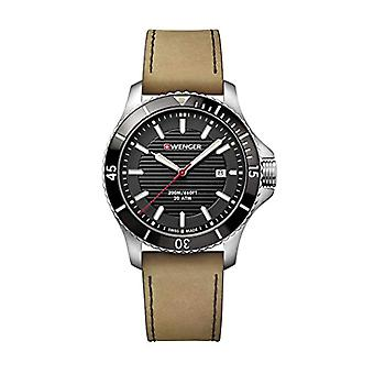 Wenger Unisex Quartz Analog leather strap 01.0641.125