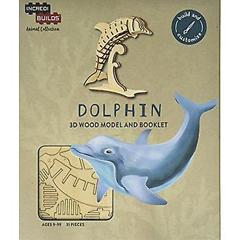 IncrediBuilds Animal Collection Dolphin 3D Wood Model