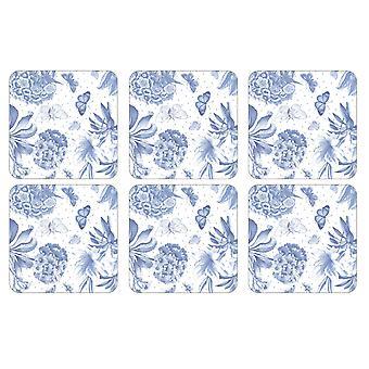 Pimpernel Botanic Blue Coasters, Set of 6