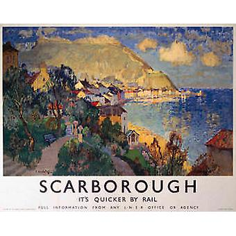 Scarborough (sea) (old rail ad.) fridge magnet