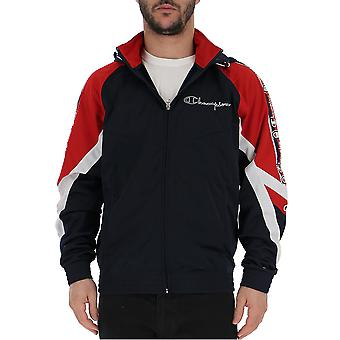 Champion Blue/red Polyester Outerwear Jacket