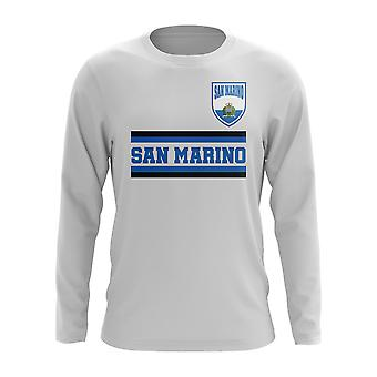 San Marino Core Football Country Long Sleeve T-Shirt (White)