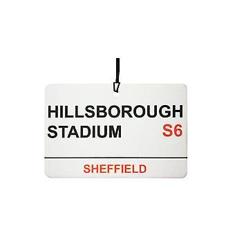 Sheffield Wednesday / Hillsborough-Stadion Street Sign Auto-Lufterfrischer