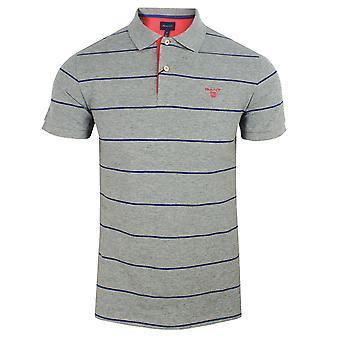 Gant 3 couleur pique gris chemise de polo rugby hommes