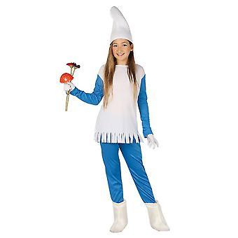 Meisjes dwerg gnome fancy dress kostuum