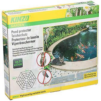 20 Stück schwimmender Teichschützer Heron Cat Guard Net Cover 20 Hexagonal Fischgarden