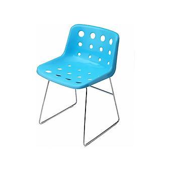 Loft Robin Day Skid Light Blue Plastic Polo Chair