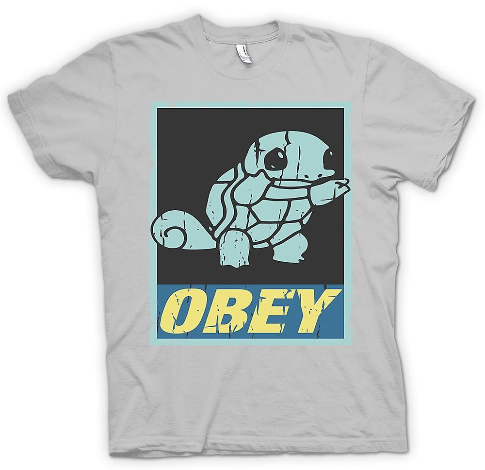 Mens T-shirt-Squirtle gehorchen - Cool Pokemon inspiriert