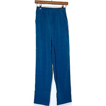 Denim & Co. Original Waist Stretch Moleskin Pants Dark Teal Blue A63923