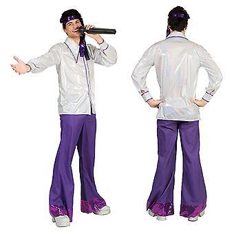Disco 70s Shirt Men's Costume DancerS Hit Star Saturday Night Fever Costume Hommes