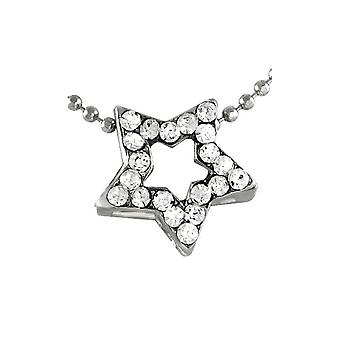 Pendant with chain Cz Silver Star