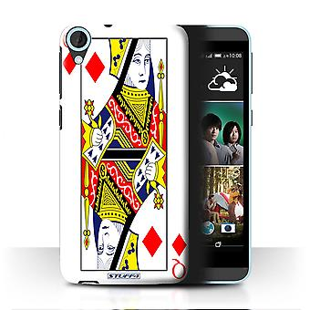 STUFF4 Case/Cover for HTC Desire 820q Dual/Queen of Diamonds/Playing Cards