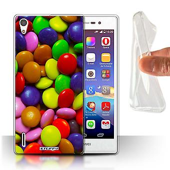 STUFF4 Gel/TPU Case/Cover for Huawei Ascend P7 LTE/Smarties/Sweets & Candy