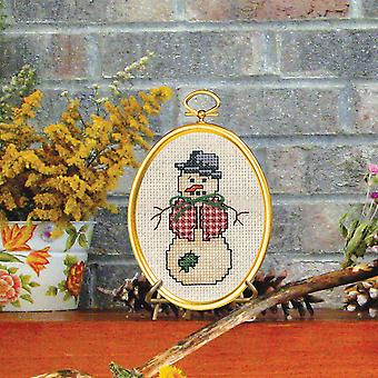Dapper Snowman Mini Counted Cross Stitch Kit-3