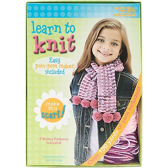 Learn To Knit Scarf 46773