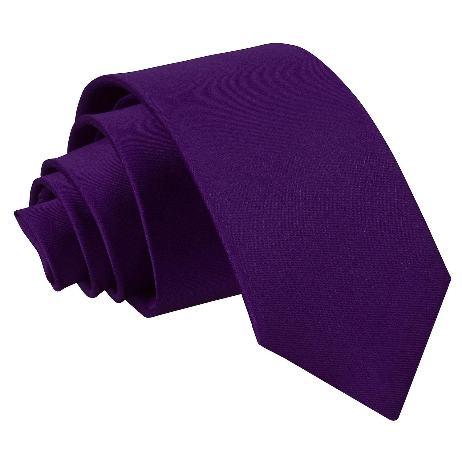 Boy's Plain Purple Satin Tie (8+ years)