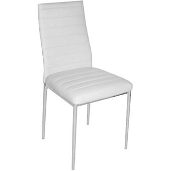 SZ Suárez Avat Upholstered chair legs White And Silver Grey 430X425X930Mm