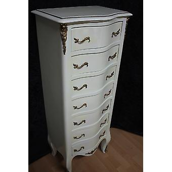Chest of drawers baroque cabinet Louis xv antique style MkSm0030