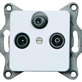 Kopp Insert TV, Radio, SAT socket Europa Arctic white, Matt 915813089
