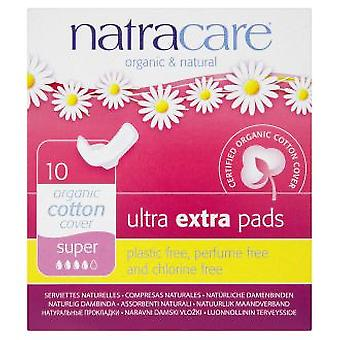 Natracare Organic Cotton Cover Ultra Extra Pads Super 10 Units