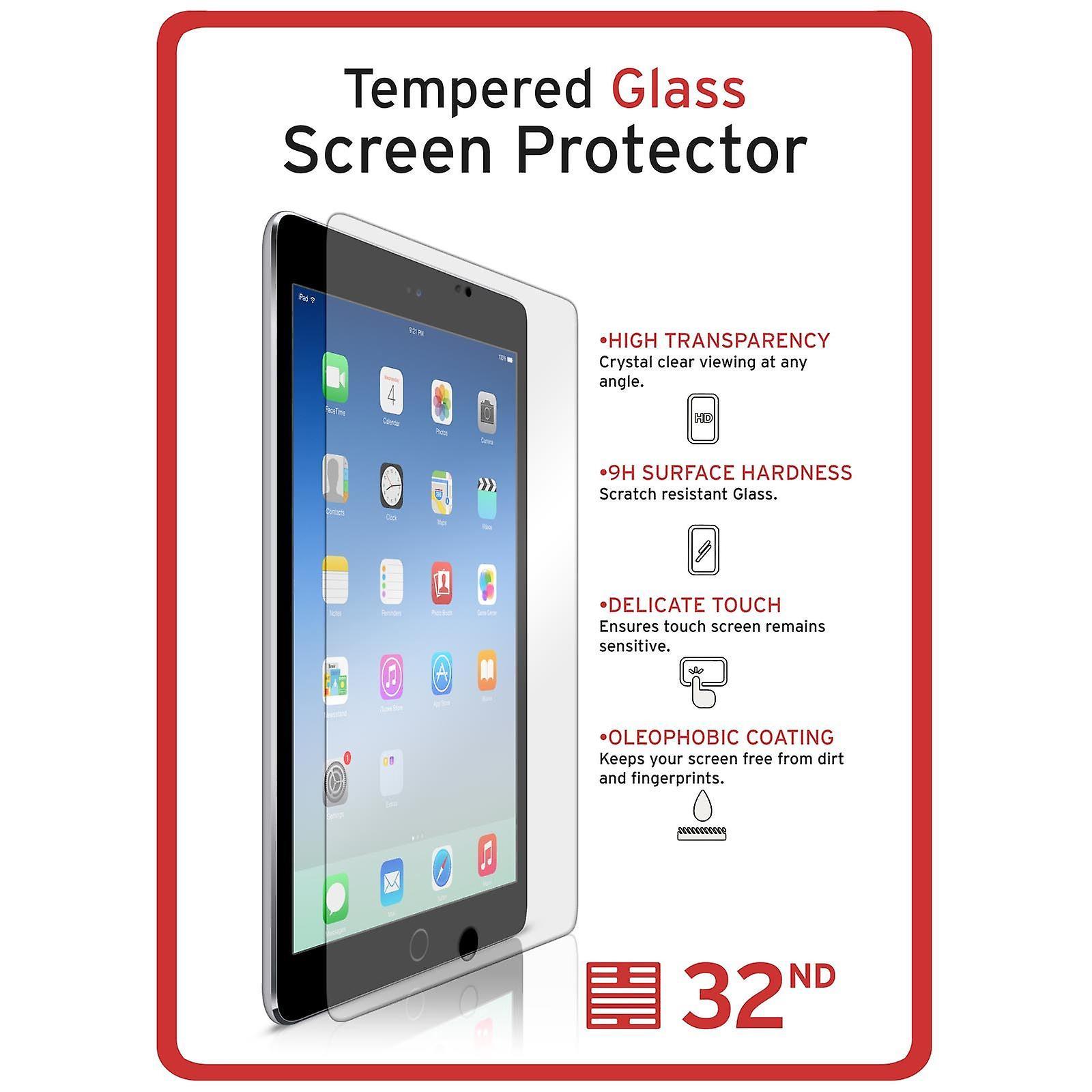 Extra blindada de vidrio templado para Apple iPad 2 3 4