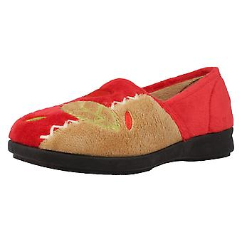 Ladies Easy B Wide Fitting Slippers Athena
