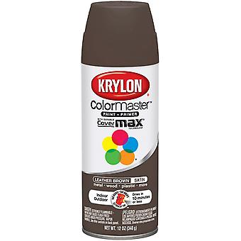 Colormaster Indoor/Outdoor Aerosol Paint 12oz-Leather Brown Satin 1000A-3566