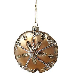 Sand Dollar glas Encrusted Christmas Holiday Ornament