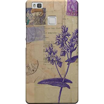 Flower cover with stamps for Huawei P9 Lite