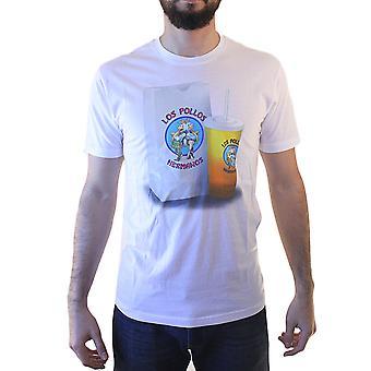 Breaking Bad Los Pollos Hermanos mænds hvid T-shirt