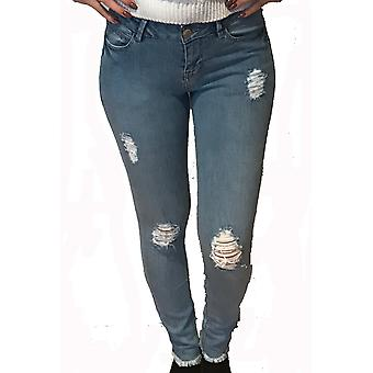 NL Womens Casual Super Skinny Ripped Jeans