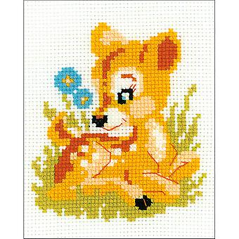 Baby Deer Counted Cross Stitch Kit-6