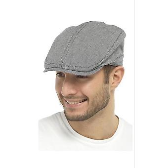 Mens Adult Quality Small Check Flat Cap Summer Fashion Hat 100% Cotton