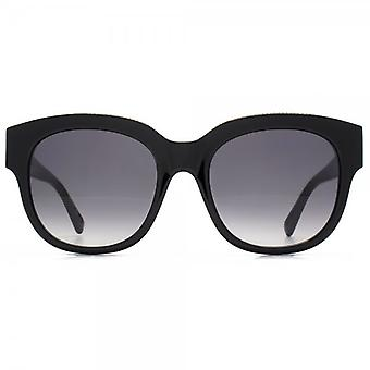 Stella McCartney Falabella Brow Detail Square Sunglasses In Black