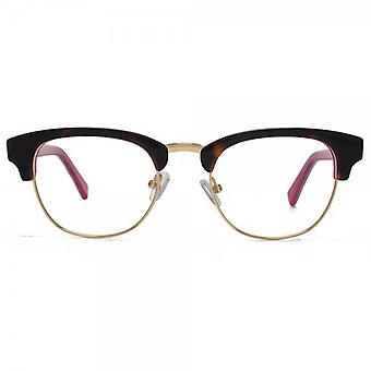 Hook LDN Novello Glasses In Tortoiseshell On Pink