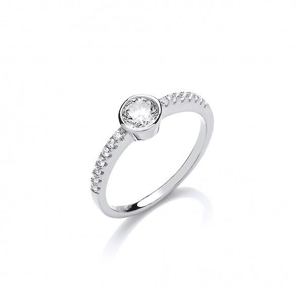 Cavendish French Sweet Sparkly Solitaire Ring