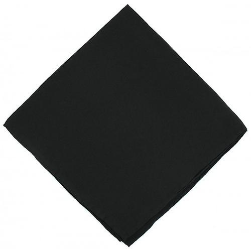 Michelsons of London Plain Silk Handkerchief - Black