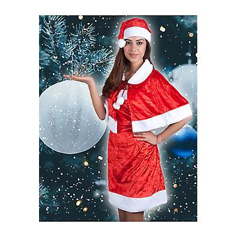 Women costumes  Christmas woman dress with cape
