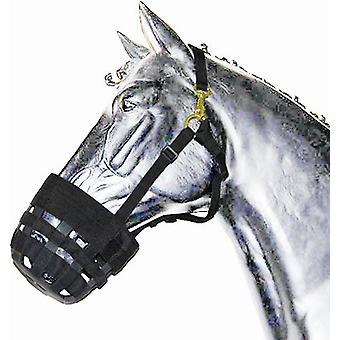 Gómez Muzzle Nylon-Neoprene Adjustable Horse 344 Black