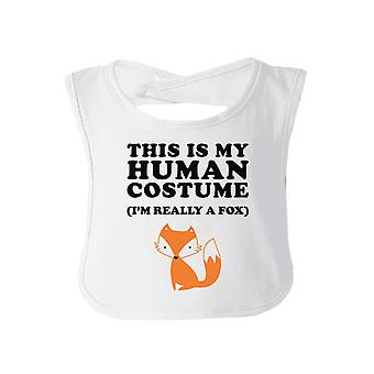 This Is My Human Costume Funny Baby Bib White Halloween Bib Gifts