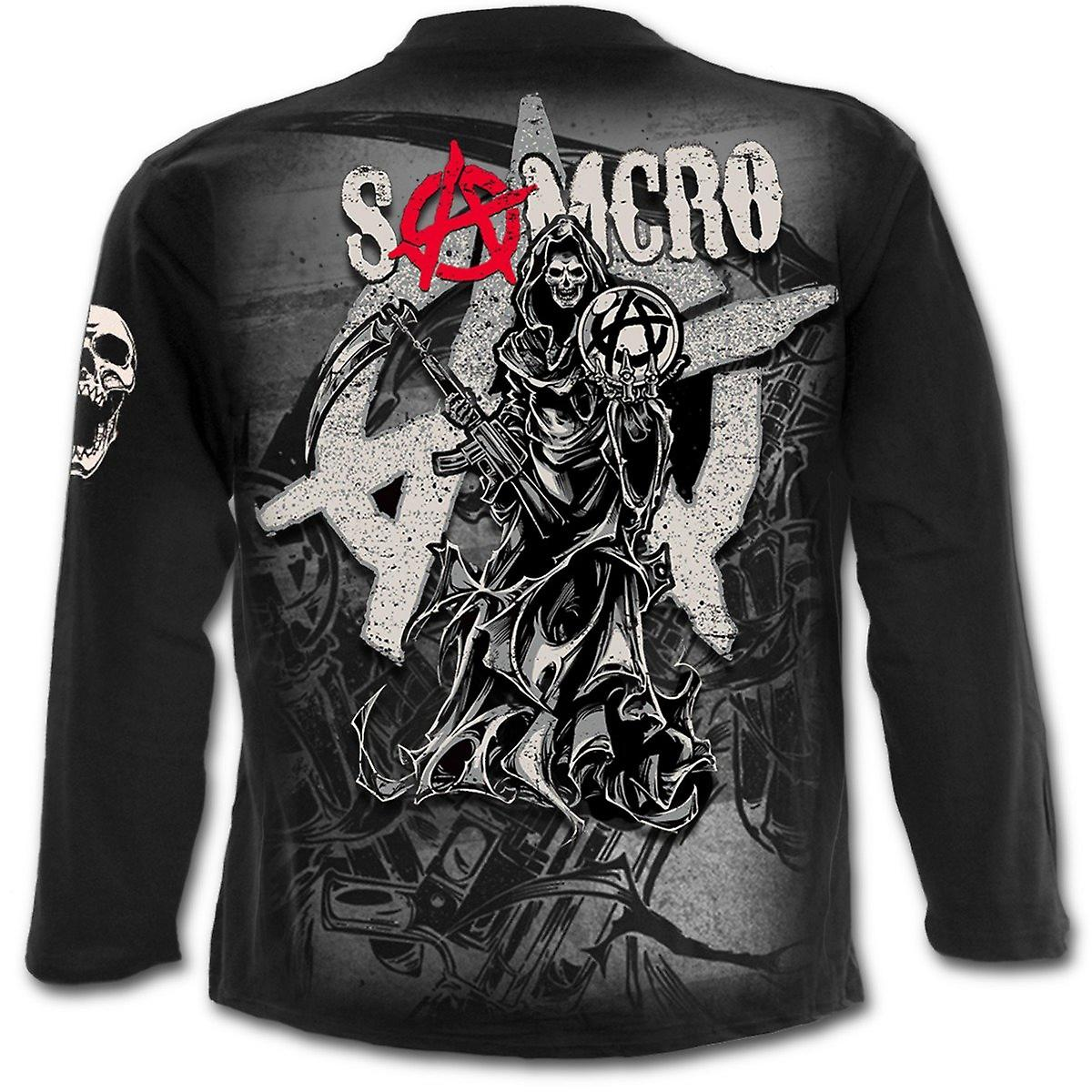 Spiral - REAPER MONTAGE - Sons of Anarchy Long Sleeve T-Shirt Black