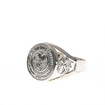 Celtic Silver Plated Crest Ring Large