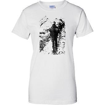 Royal Marines Yomp in Falklands - Ladies T Shirt