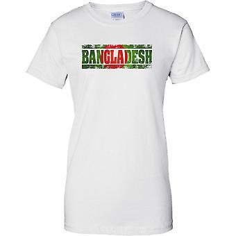 Bangladesh Grunge land namn flagga effekt - damer T Shirt